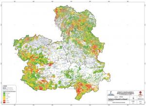 Mapa de riesgopotencial de incendios forestales en Castilla-La Mancha IF2