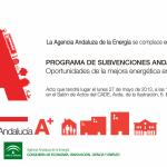 Programa de Subvenciones ANDALUCA A+. Oportunidades de la mejora energtica en Cdiz